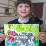Осипова Дарина 8 лет 2 класс Пасхальный кролик