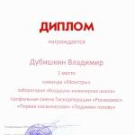 диплом Дубишкина